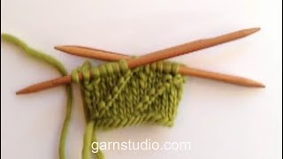 How to knit a spiral pattern in the round