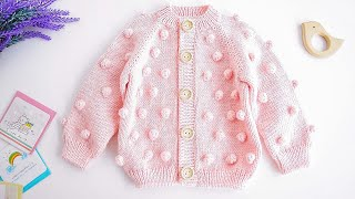 Knit POPCORN CARDIGAN/SWEATER For Baby/Kid