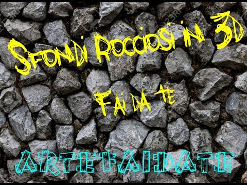 Roccia e sfondi 3d acquario Fai da Te