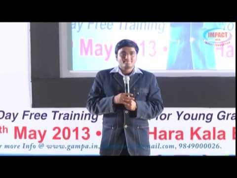 How To Become IAS officer | Sridhar Babu Addanki |TELUGU IMPACT Hyd 2013