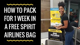 How to Pack Clothes for One Week in a Free Spirit Airlines Personal Bag
