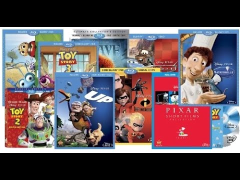 Current Pixar Blu-Ray Collection (July 2014)