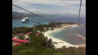 preview picture of video 'Labadee/Haiti Dragons Breath Zip Line, Royal Carribean'