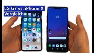 LG G7 vs iPhone X im Vergleich (deutsch HD)