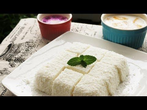 EASY DESSERT RECIPES – Coconut Jelly / Coconut Milk Pudding