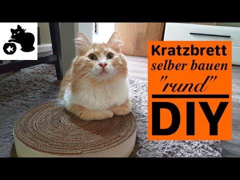 """🔥Katzen Kratzbrett selber bauen """"rund"""" - DIY Katzenspielzeug selber machen - Kratzbrett aus Kartons"""