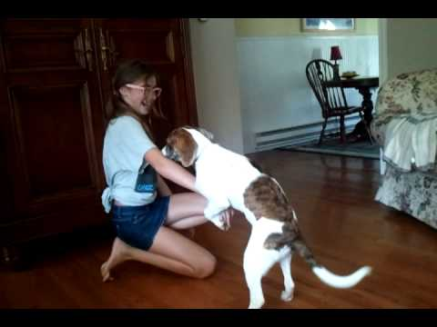 Dog teen girl