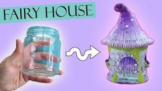 Polymer Clay Fairy House Jar Lantern || Maive Ferrando