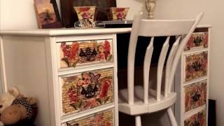 Dollar Tree Napkins Decoupage Painted Furniture