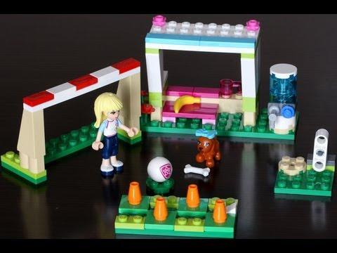 Vidéo LEGO Friends 41011 : Stéphanie et son entrainement de foot