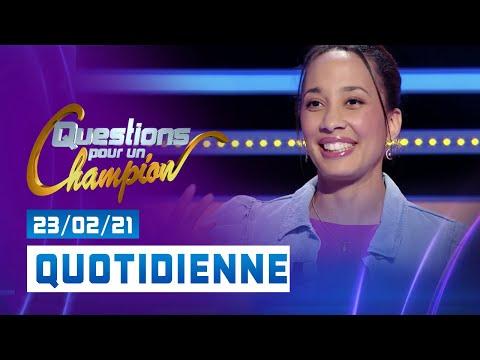 Mon passage à Question Pour Un Champion le 23 février 2021 voir à 3:06 et 15:11