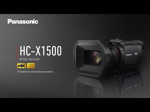 Introducing Panasonic 4K 60p Camcorder HC-X1500