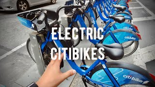Electric Citibikes in NYC