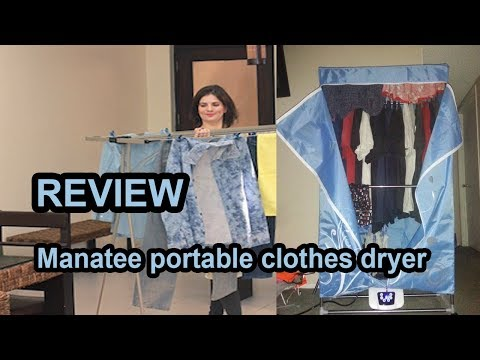 Manatee portable clothes dryer   Indoor Hang Dry Review 2019