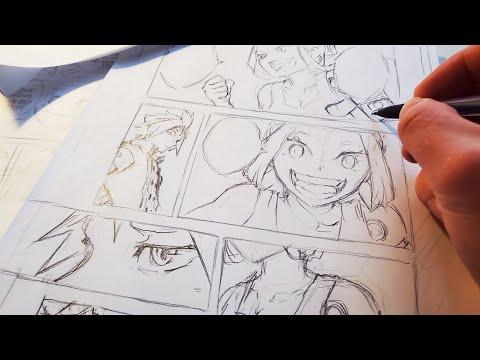 Sketching Full Manga Page   Anime Manga Drawing