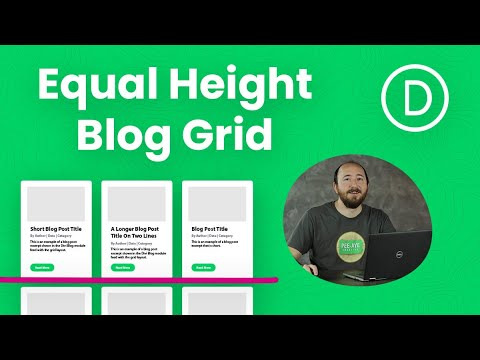 How To Make The Divi Blog Grid Equal Height