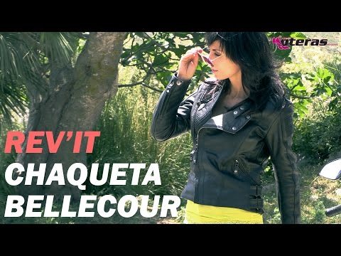 Chaqueta de piel para ir en moto Rev'it modelo Bellecour