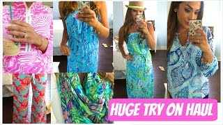 Huge Try On Haul | Lilly Pulitzer Sale!! | ALEXANDREA GARZA