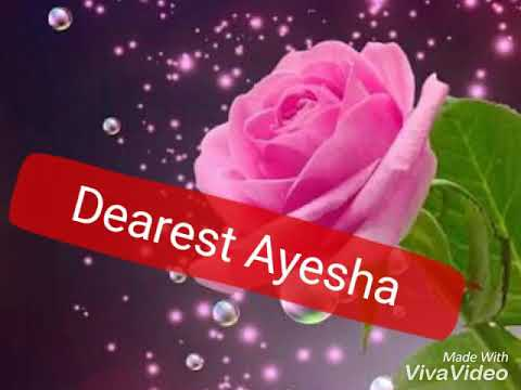 Ayesha happy birthday 2018