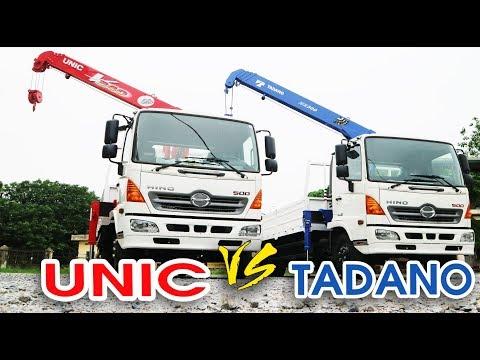 So Sánh Xe Tải Cẩu HINO UNIC vs HINO TADANO