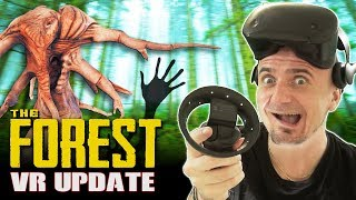 BEST VIRTUAL REALITY SURVIVAL SIMULATOR! The Forest VR Beta Update 2
