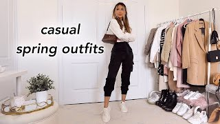 CASUAL SPRING OUTFIT IDEAS | Fashion Lookbook