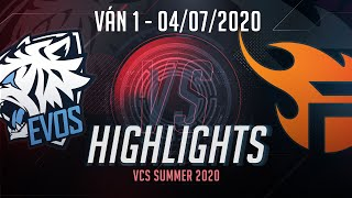 Highlights EVS vs FL [VCS 2020 Mùa Hè][04.07.2020][Ván 1]