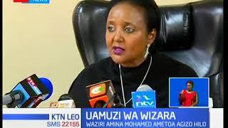 Maafisa wa polisi walisimamia ubomozi wa vibanda vilivyokuwepo nje ya shule ya Moi Girls