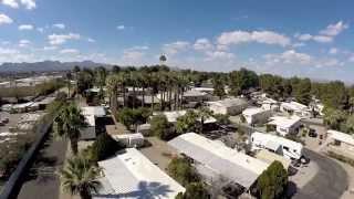 A short flight over N.W. Tucson