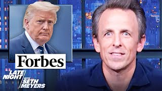 Trump Gets Booted Off of Forbes Magazine's List of Richest Americans