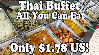 ALL YOU CAN EAT HALAL THAI FOOD BUFFET in Krabi Thailand. ONLY $1.78 US! Cheapest Thai Food Buffet.