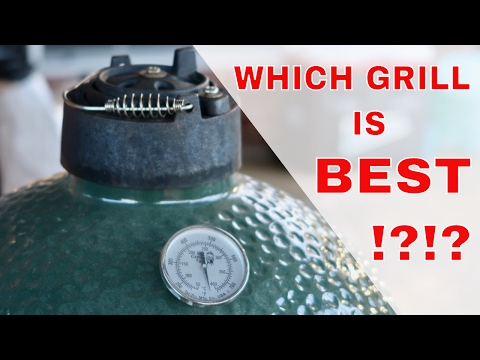 Big Green Egg vs Weber Summit Charcoal Grill vs Kamado Joe Comparison Review | pros cons | Grill Me!