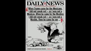 Daily News cover illustrates Trump beheading Lady Liberty