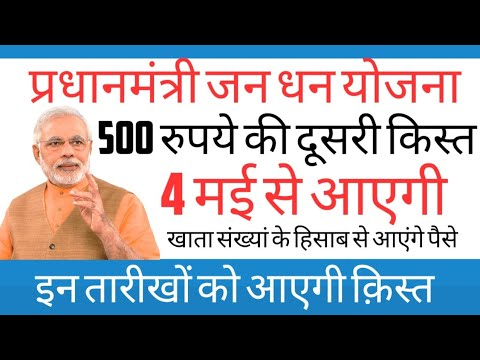 ✨महिला जनधन अकाउंट में 500 रुपये की दूसरी किस्त 4 मई से  ✨