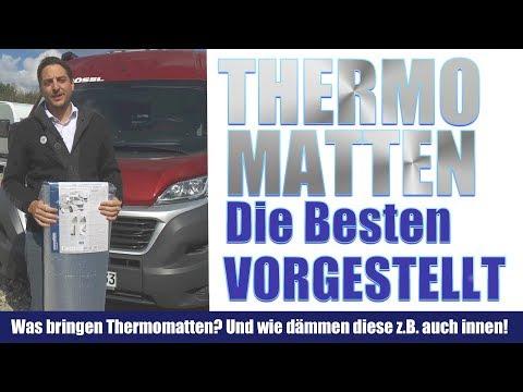 Thermomatten für Wohnmobile, Kastenwagen, Pössl, Hindermann. Was sie bringen.