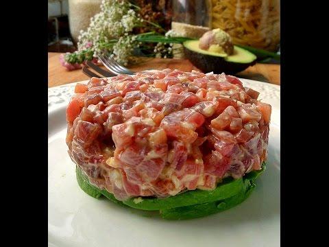 Cómo hacer Tartar de atún rojo fácil y rápido - Receta para Navidad