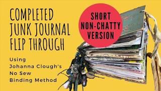Completed No-Sew Junk Journal Flip Through - NON-CHATTY  (using Johanna Clough's Binding Method)