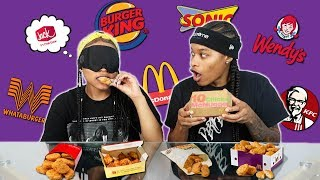 BLINDFOLDED CHICKEN NUGGET TASTE TEST!! *IMPOSSIBLE*