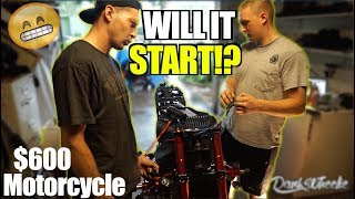$600 Motorcycle Budget Build : Will It Run? - Motor Install
