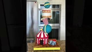 Circus Themed Gravity Defying Cake