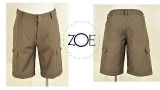 DIY Sewing Men Cargo Shorts   Zoe DIY