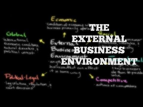 , title : 'The External Business Environment