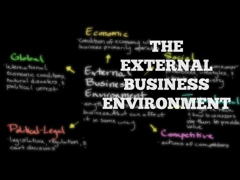 The External Business Environment