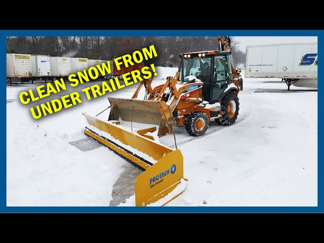Snow Plow for Under Trailers - Pro-Tech Low Profile Angle Sno Pusher