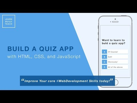 Build a Quiz App (1) - Create and Style the Home Page - YouTube