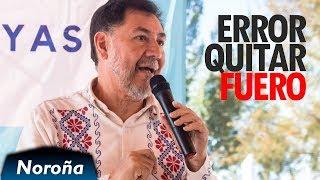 El Fuero NO da Impunidad, es un ERROR Quitarlo - Noroña en Melchor Ocampo, EdoMéx