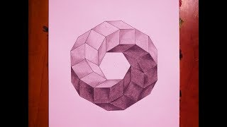 How To Paint Impossible 3D Toroidal Polyhedron | Geometric Art