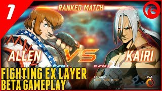 Fighting EX Layer Beta Gameplay - Allen vs Kairi (PS4)