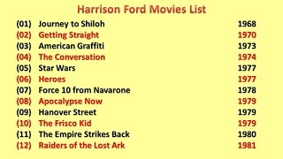 Harrison Ford Movies List