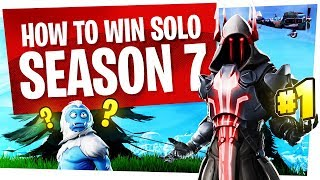 How to WIN a Solo Game in Fortnite Season 7 - Educational Commentary, don